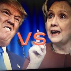 Trump vs Clinton Wahldebatte USA 2016