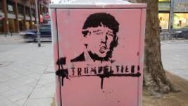 Das Trumpeltier wütet auch auf den Mannheimer Straßen.