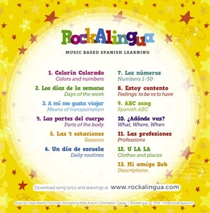 DVD of Spanish music videos from Rockalingua.