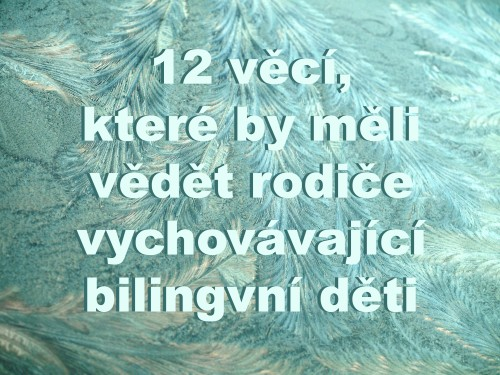 12 things parents of bilingual children need to know - Czech