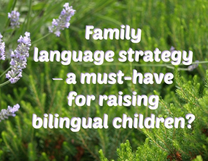 Family language strategy - a must-have when raising a bilingual child?