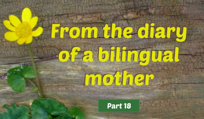 From the diary of a bilingual mother, part 18