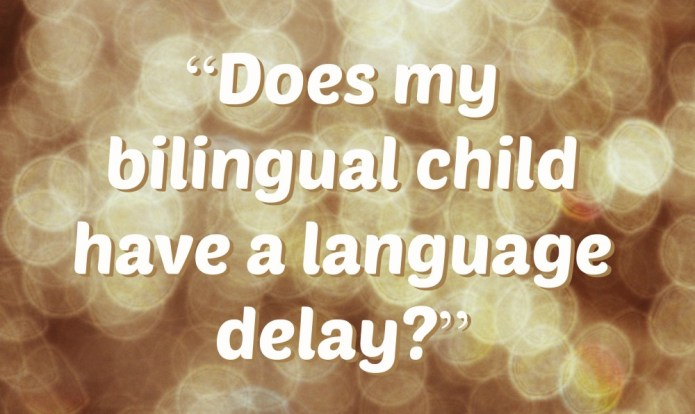 Does my bilingual child have a language delay?