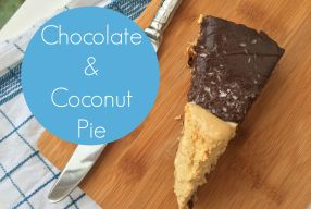 #MyKindOfFood Chocolate and Coconut Pie