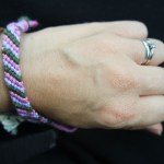 How to make a candy stripe friendship bracelet