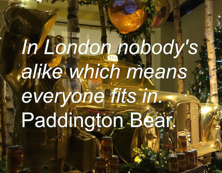 Paddington Bear, Selfridges, London. Copyright Gretta Schifano