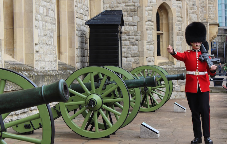 Queen's Guard at the Tower of London. Copyright Gretta Schifano