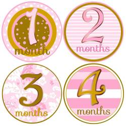 Small Crop Of Baby Month Stickers