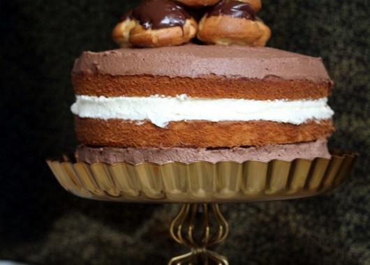 Profiterole Celebration Cake
