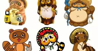 Variedades de Tanuki (Imagem: Edição de arte Mundo-Nipo)