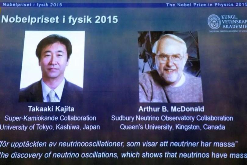 Vencedores do Nobel de Física 2015 (Foto: Reprodução/YouTube)