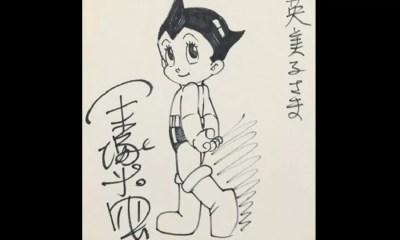 Esboço de Astro Boy /1980 (Foto: Reprodução)