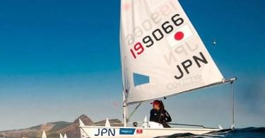 Atleta japonesa Manami Doi compete na classe laser (Foto: iStock/Free)