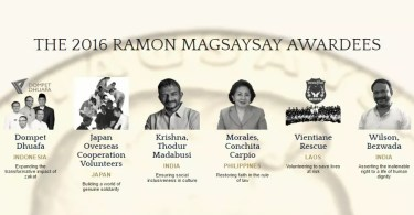 Ramon Magsaysay Awardees 2016 / Reprodução