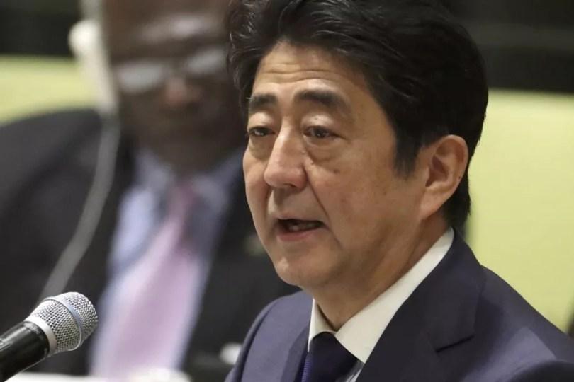 Shinzo Abe prometeu a ajuda durante a cúpula da ONU sobre refugiados ©Kyodo