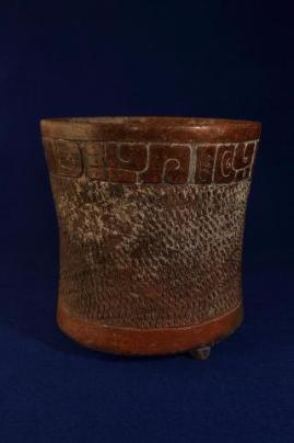 Vaso ceremonial Maya - foto por Roberto Alvarez