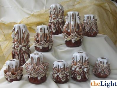 Artesanias de Guatemala, velas decorativas hechas a mano en la Antigua - Foto por Rossy Silva