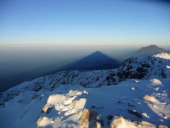En la Cumbre del Tajumulco - foto por Silke Möckel