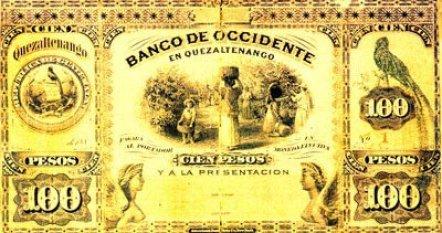 Antiguo billete nacional - foto por Juan Arturo Pérez