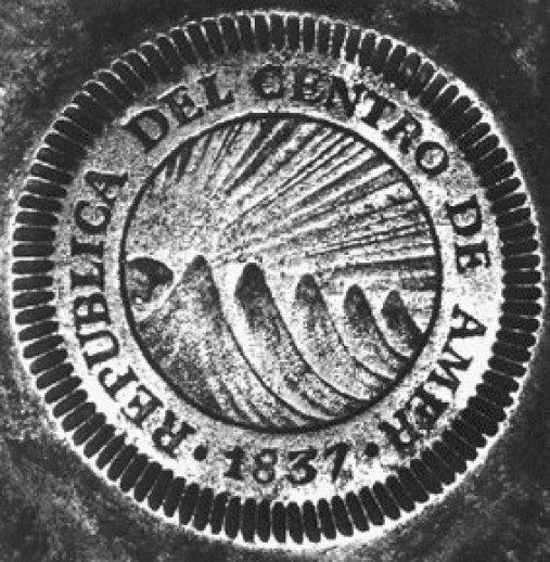 Moneda de 1837, Republica del Centro de America - Foto por Juan Arturo Pérez