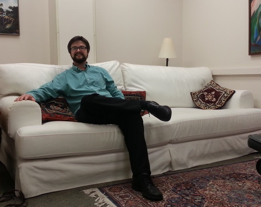 Matthew Johnson na sala de terapia