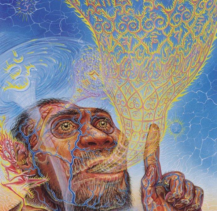 Visionary Origin of Language – Alex Grey