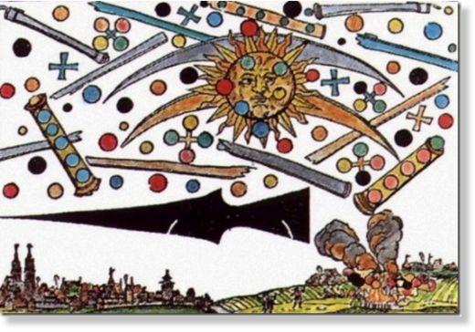 La_batalla_de_N_remberg_de_156 OVNIs en el arte: La batalla de Núremberg de 1561