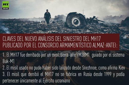 """El MH17 fue derribado con un misil que podía pertenecer únicamente al Ejército ucraniano"""""""