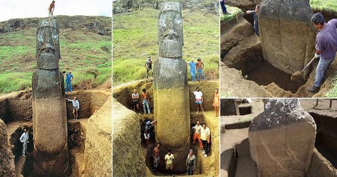 dc3d3b1a336fbbd51585e31c95f45c83-31 Los #Moai de la Isla de Pascua tienen cuerpos enterrados debajo de la superficie