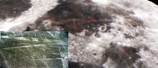 ¿Misteriosas Lineas de Nazca Descubiertas en la Luna?