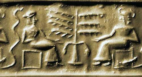 """SumerianAdamandEve-Serpent-TreeofLife ¿Quiénes fueron los verdaderos """"Dioses del Edén""""?"""