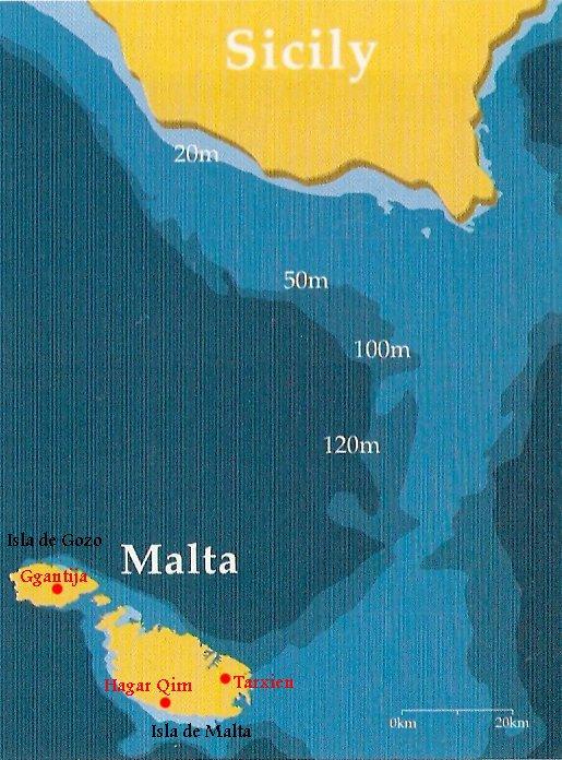 maltamap Templos IMPOSIBLES de una religión PREHISTÓRICA anterior a Adán: Los templos de Hagar Qim en Malta