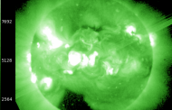 Mancha Solar muy activa del Sol se sitúa casi frente a la Tierra