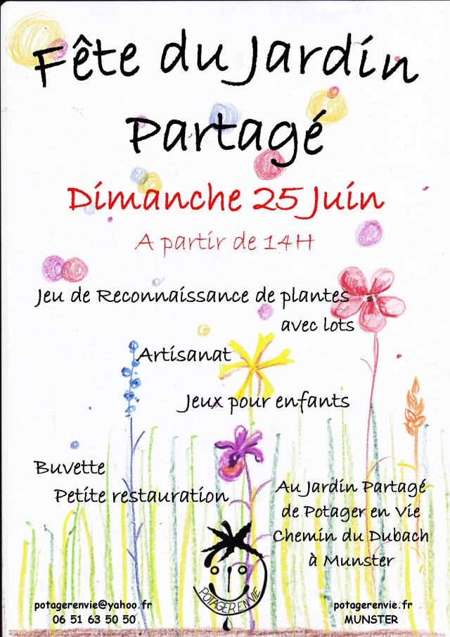 affiche fête du jardin 2017