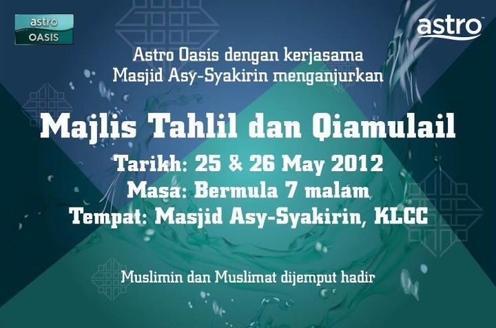 Majlis Tahlil dan Qiamullail Astro Oasis