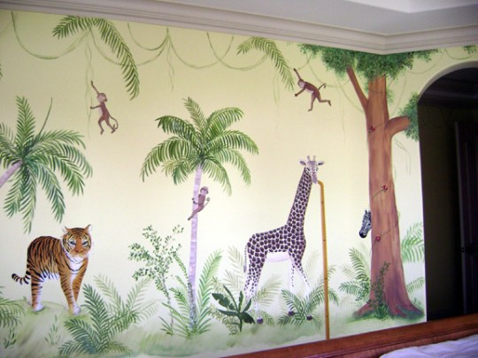 Jungle Children's mural