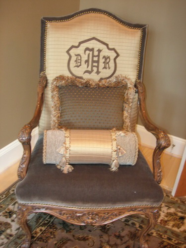 Monogramed Chair