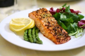 Salmon can provide you with protein and healthy  fats.