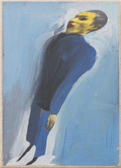 """Gianluigi Toccafondoi, """"Il cadetto"""" (1998, acrilici su carta cm 22x30)"""