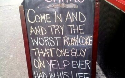 Amusing advertising