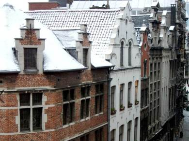 Brussels. It was a surprise to find myself taking this picture as I wasn't supposed to be here. I left a sun drenched Los Angeles to arrive many hours later in a snowbound Europe. Heathrow was shut so we were delivered to Brussels instead. Thanks go to my Amex travel service and the concierge at the Amigo Hotel (from where this picture was taken) for sorting out the mess and no thanks go to American Airlines for one of the worst service experiences I've ever known. (Nevertheless, and because of all that turmoil, in one respect that extraordinary journey changed my life for the better...but that's another story!)