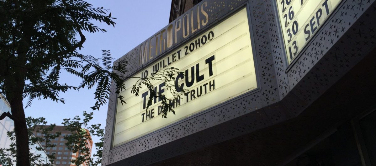 Concert review: The Cult - Metropolis, Montreal - July 10th 2016
