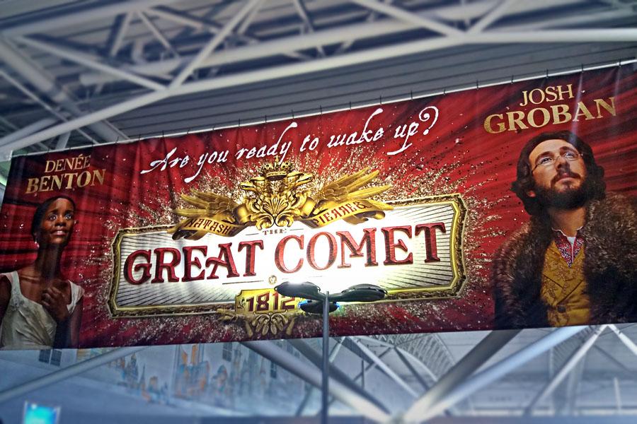 Reklama na The Great Comet hodně sází na jména