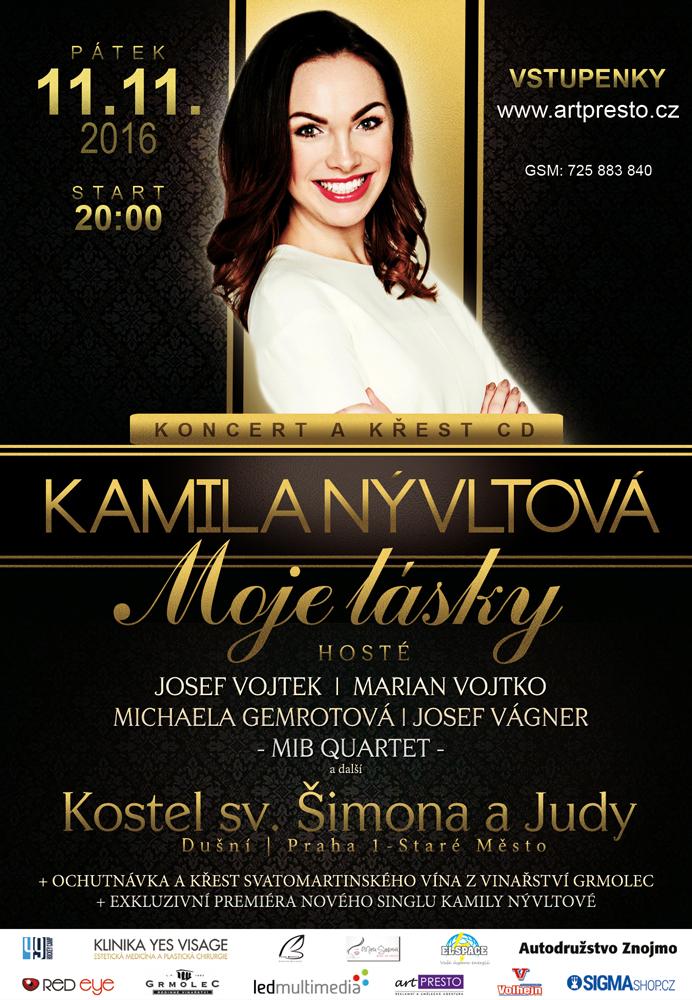 Oficiální plakát koncertu - Kamila Nývltová - Moje láskyy