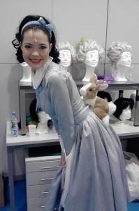 Hedvika v kostýmu z Mam'zelle Nitouche