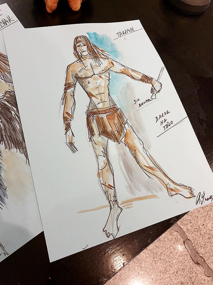 Muzikál Tarzan Divadlo Hybernia kostýmy