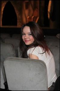 Radka Špáňová v hledišti divadla