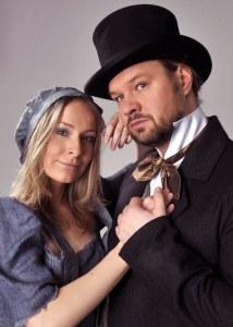 Promofotografie - Fantine (Lenka Janíková) a Jean Valjean (Petr Gazdík)