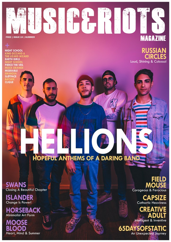 Featuring: Hellions, Swans, 65daysofstatic, Russian Circles, Bayside, Creative Adult, Miserable, Moose Blood, Islander, Capsize, Sløtface, Highsakite, Earth Girls, Emarosa, Horseback, Pierce The Veil, Night School, Field Mouse, Mock Orange, Clique, King Gizzard & The Lizard Wizard