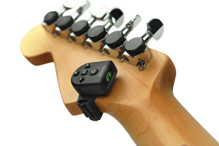 NS Micro Tuner on guitar
